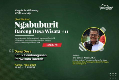 Webinar Seri 11: Dana Desa untuk Pembangunan Pariwisata Daerah